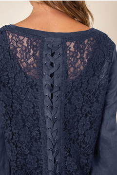 Simply Noelle Faux Suede & Lace Top - Alternate List Image
