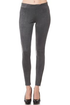Olivaceous  Faux Suede Legging - Product List Image