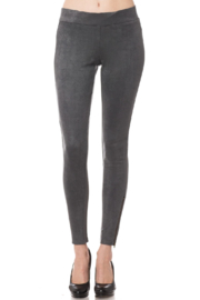 Olivaceous  Faux Suede Legging - Product Mini Image