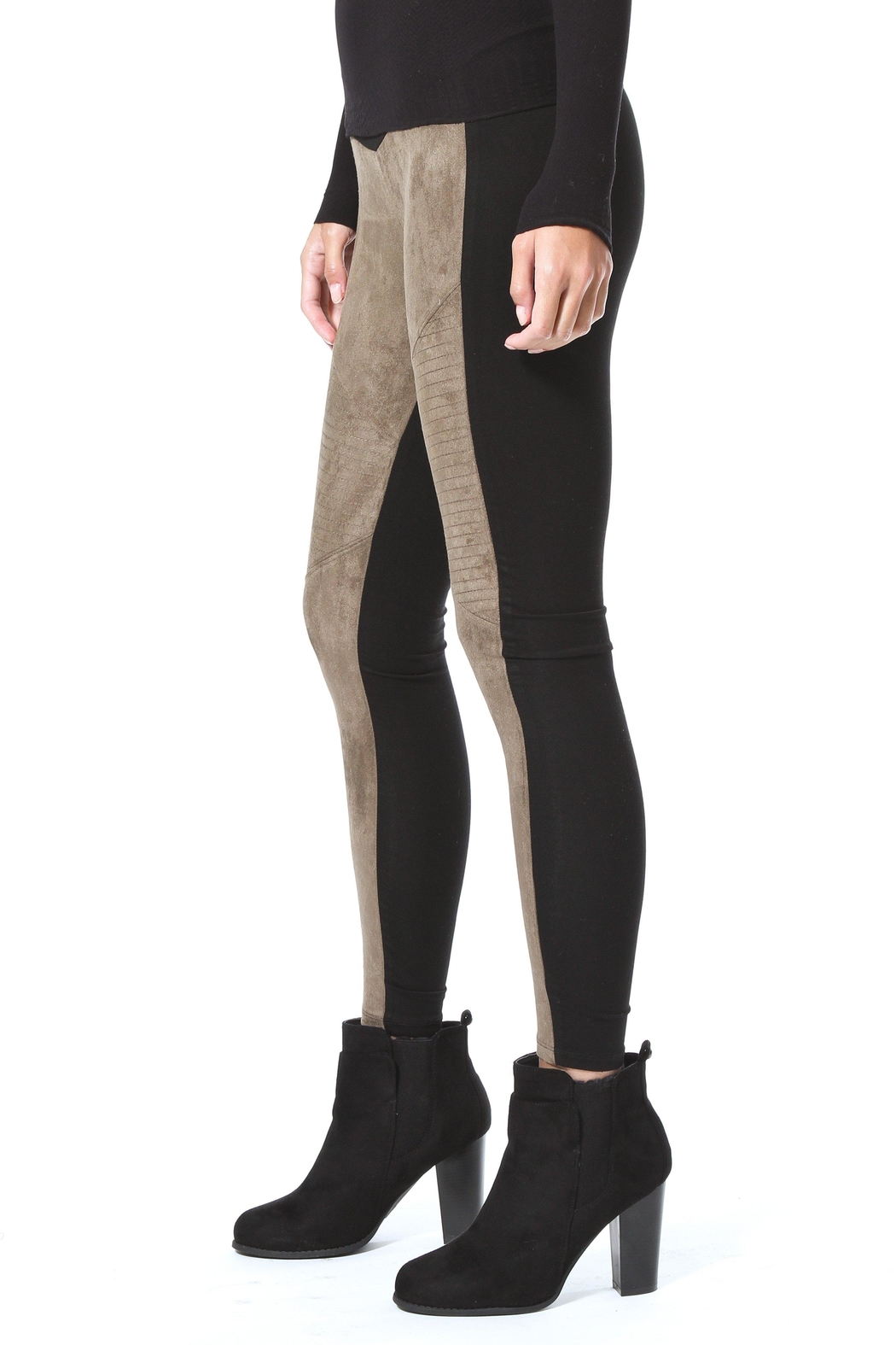Madonna & Co Faux Suede Legging - Front Full Image