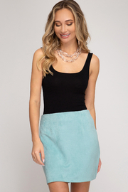 She and Sky Faux Suede Mini Skirt - Product Mini Image