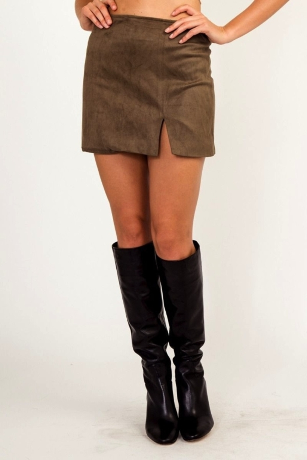 59c0cf194c8 Olivaceous Faux Suede Mini Skirt from Orlando by Zingara Souls ...