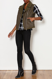Skies Are Blue Faux Suede Moto Vest - Side cropped