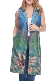 FDJ French Dressing FAUX SUEDE PRINTED LONG VEST - Product Mini Image