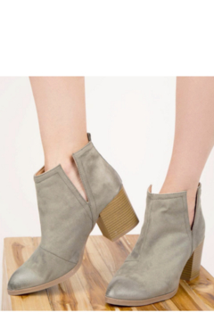 Qupid Faux Suede Sage Bootie - Product List Image