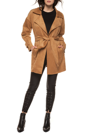 Black Tape/Dex Faux Suede Self Sash Trench Coat - Product Mini Image