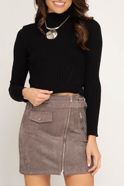 She + Sky Faux Suede Skirt - Product Mini Image