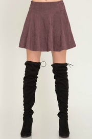 She & Sky  Faux Suede Skirt - Product Mini Image