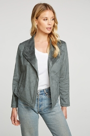 Chaser Faux Suede Stretch Drape Front Jacket - Product Mini Image