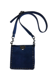 INZI FAUX SUEDE STUDDED DESIGNER INSPIRED CROSS BODY HANDBAG - Product Mini Image