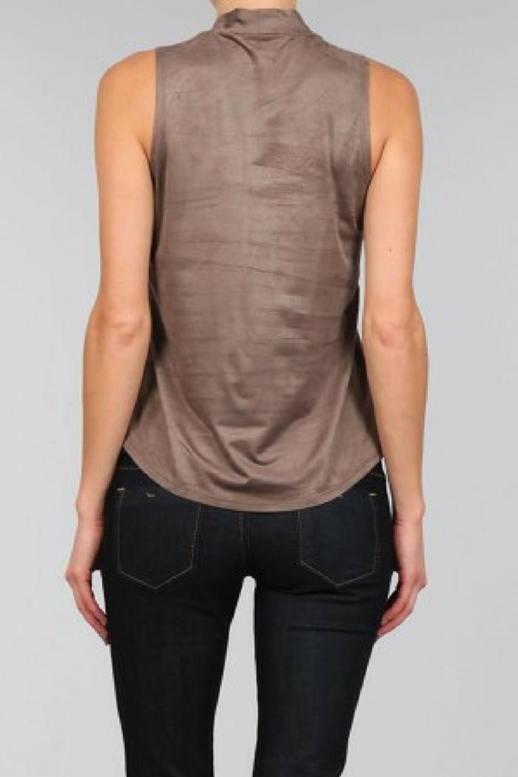 Bear Dance Faux Suede Top - Side Cropped Image