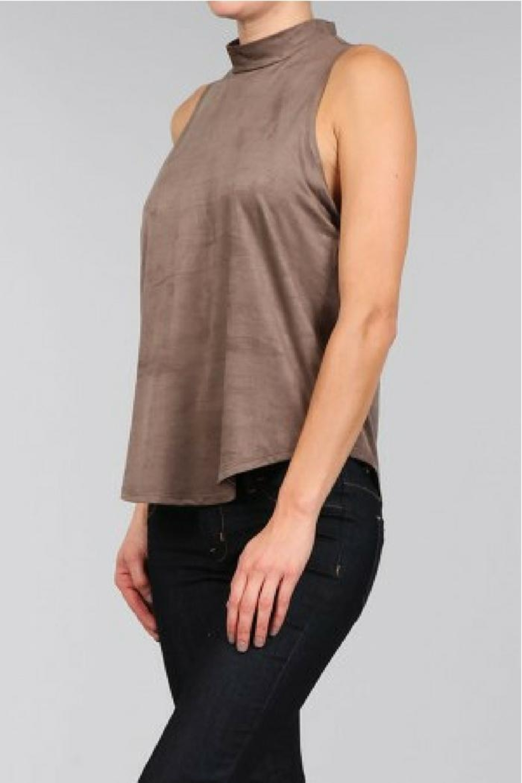 Bear Dance Faux Suede Top - Front Full Image