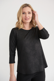 Joseph Ribkoff Faux Suede Top - Product Mini Image