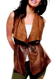 Black Tape Faux Suede Vest - Product Mini Image