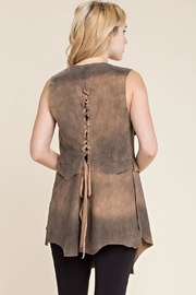 Vocal Apparel Faux Suede Vest - Front full body