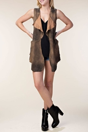 Vocal Apparel Faux Suede Vest - Product Mini Image