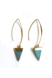 JChronicles Faux-Triangle-Tq Fish-Hook Earrings - Product Mini Image