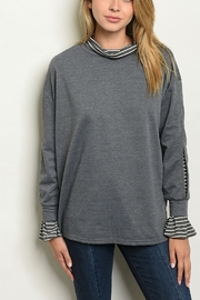 Lyn-Maree's  Faux Turtleneck Sweater - Front cropped