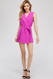 Do & Be Faux-Wrap Belted Romper - Product Mini Image