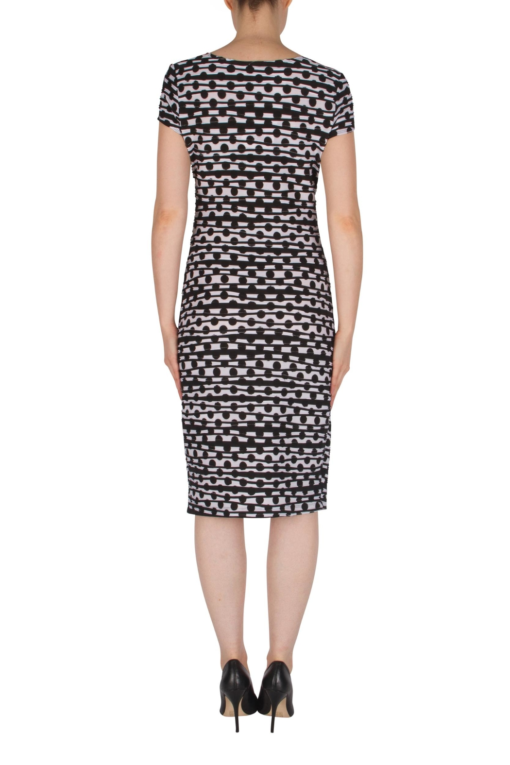 Joseph Ribkoff Faux-Wrap Dress - Side Cropped Image