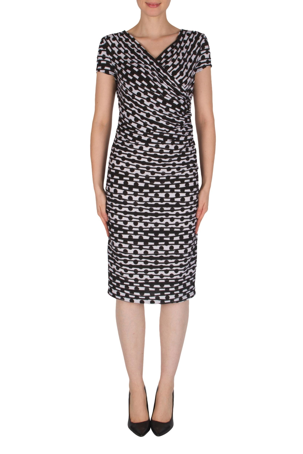 Joseph Ribkoff Faux-Wrap Dress - Main Image