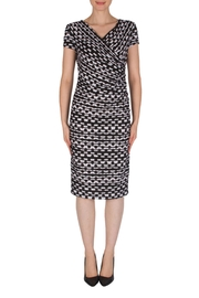Joseph Ribkoff Faux-Wrap Dress - Front cropped