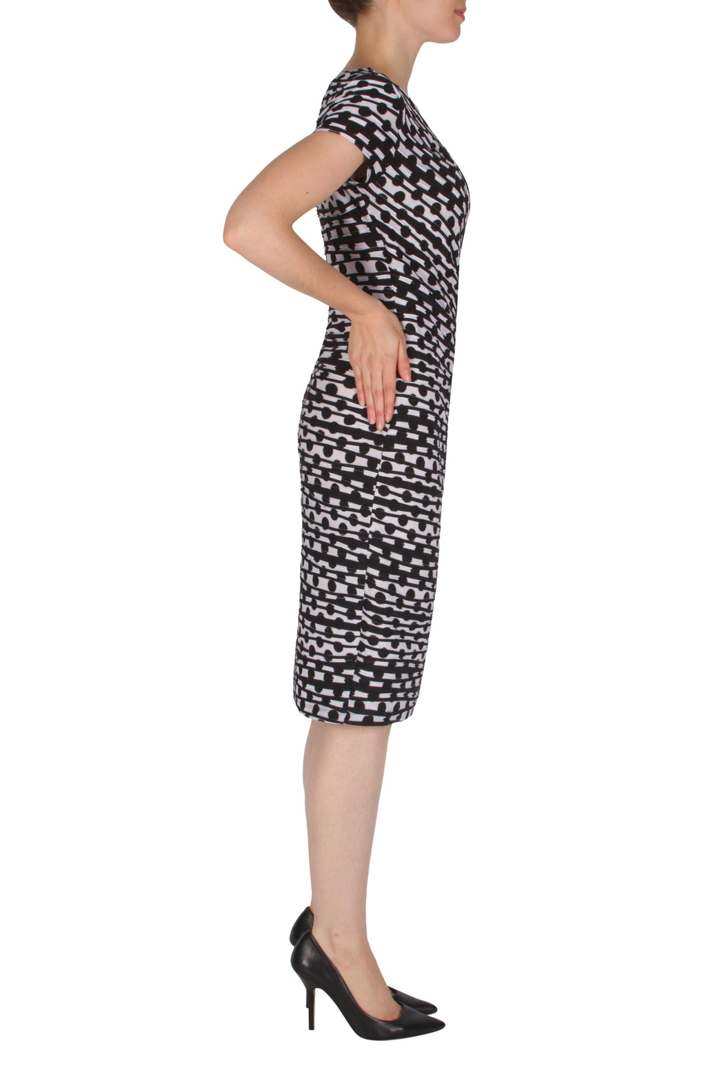 Joseph Ribkoff Faux-Wrap Dress - Front Full Image