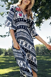 Tribal Faux-Wrap Dress - Product Mini Image