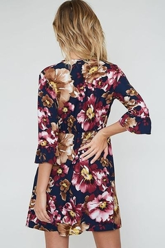 Peach Love Faux  Wrap Floral  Dress - Alternate List Image