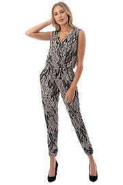 Ariella USA Faux Wrap Jogger Jumpsuit - Product Mini Image