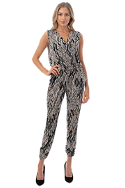 Ariella USA Faux Wrap Jogger Jumpsuit - Front full body