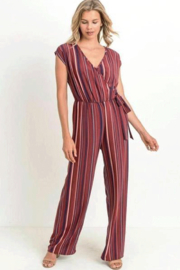 Gilli  Faux Wrap Short Sleeve Jumpsuit - Product Mini Image