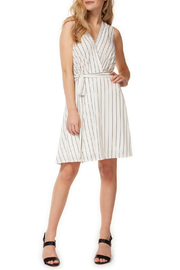 Dex Faux Wrap Stripe Dress w Self Belt - Product Mini Image