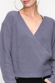Starrs On Mercer Faux Wrap Sweater - Product Mini Image