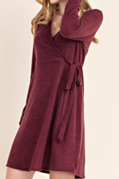 Mittoshop Faux Wrap Sweater Dress - Product List Image