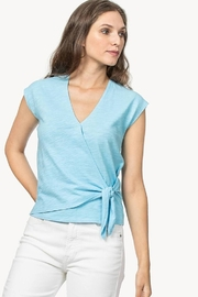 Lilla P Faux Wrap Top - Product Mini Image