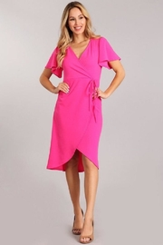 Blvd Faux Wrp Dress - Front cropped