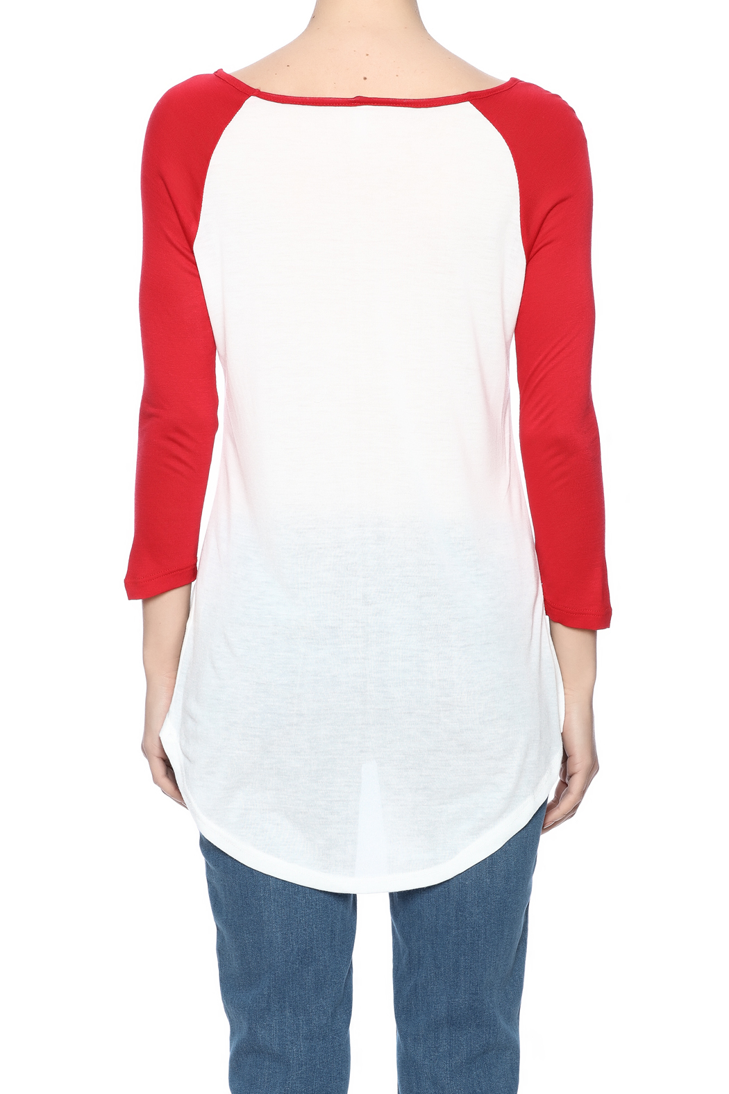 fave by Vfish Wine Baseball Tee - Back Cropped Image