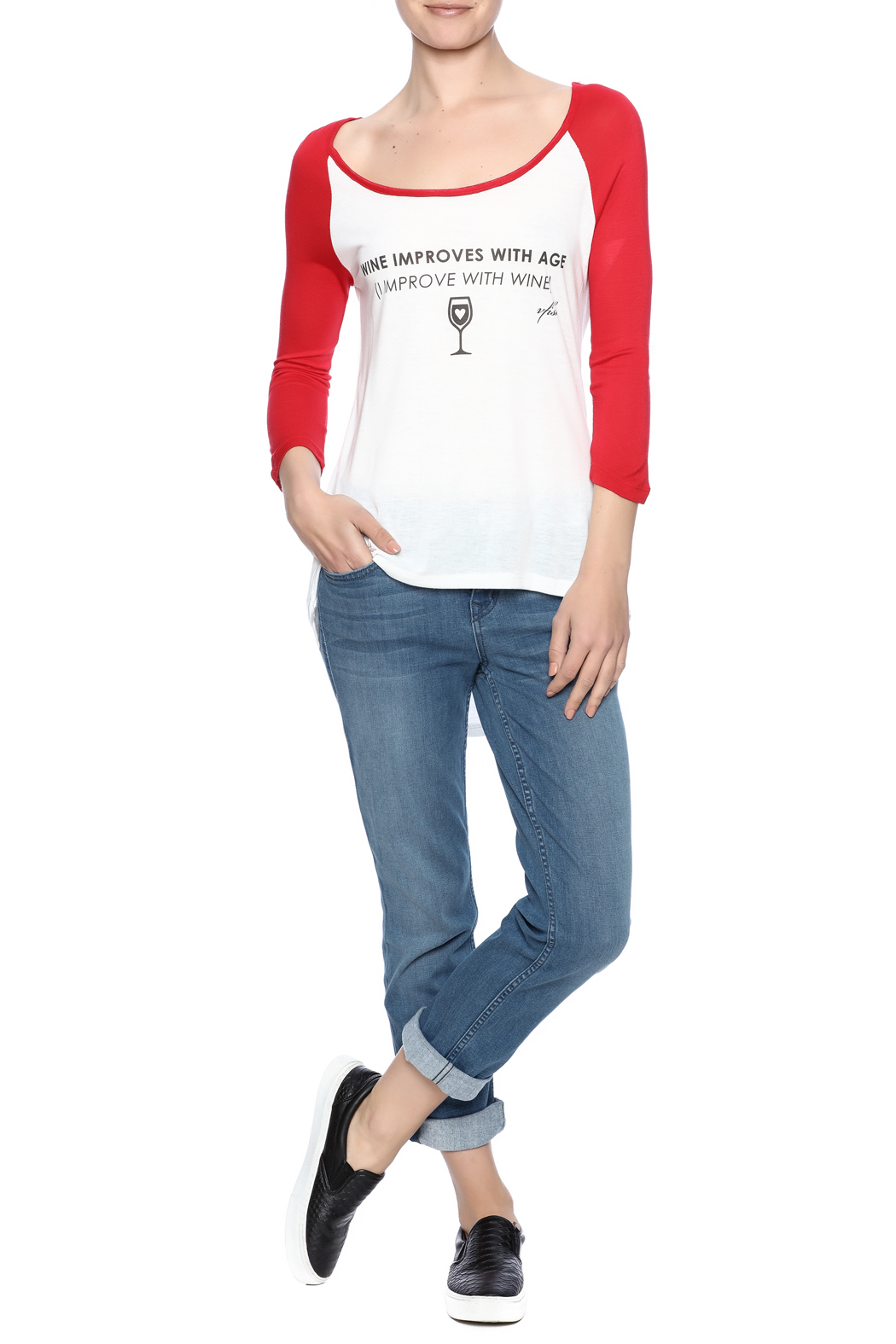 fave by Vfish Wine Baseball Tee - Front Full Image
