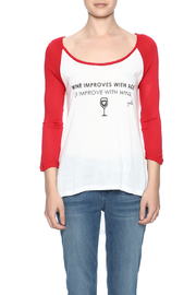 fave by Vfish Wine Baseball Tee - Side cropped