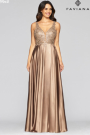 Faviana Evening Gown 10407 - Front cropped