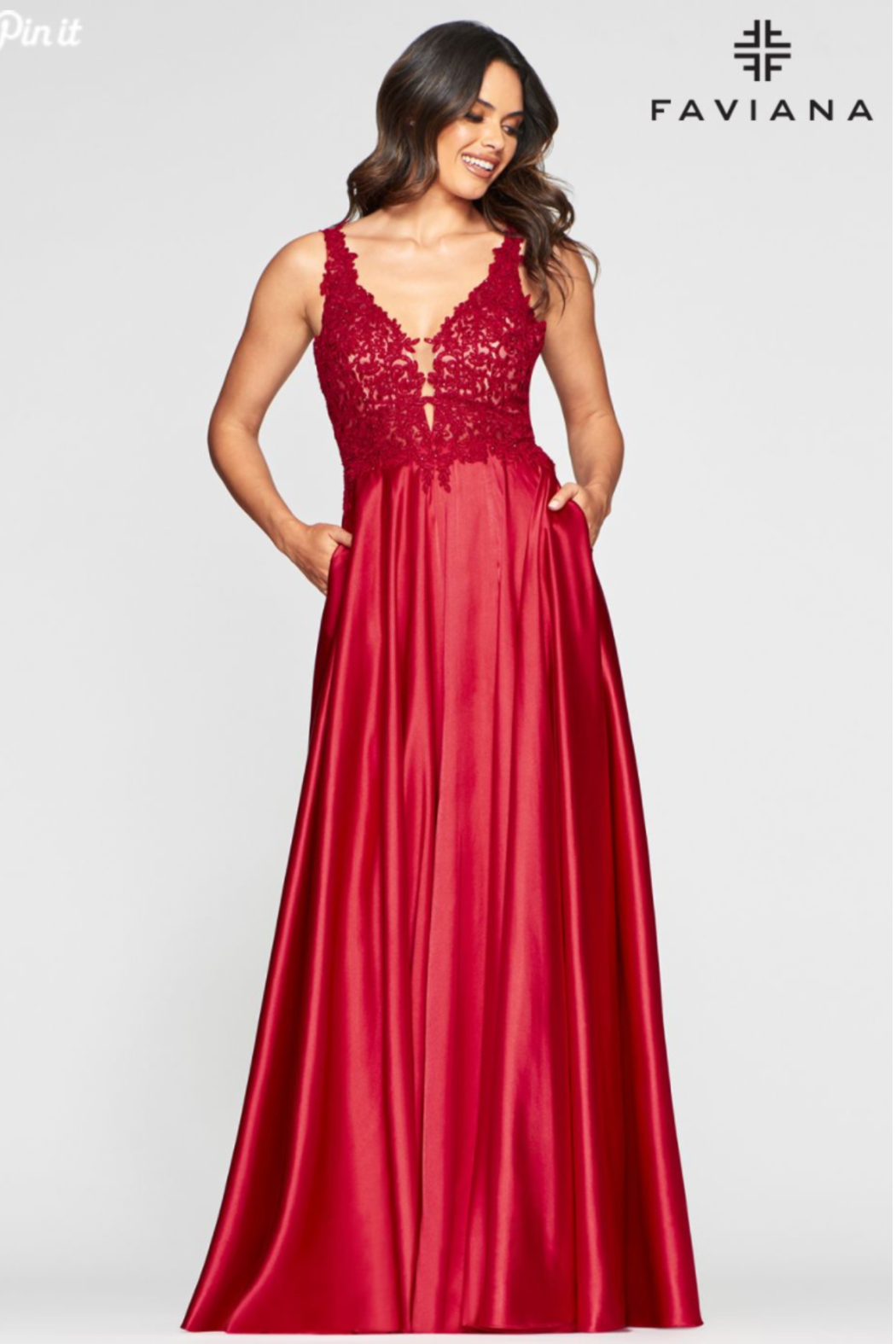 Faviana Evening Gown 10407 - Side Cropped Image