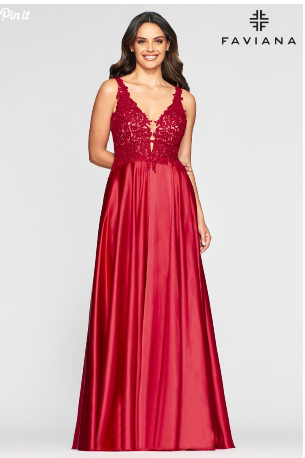 Faviana Evening Gown 10407 - Front Cropped Image