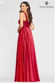 Faviana Evening Gown 10407 - Front full body