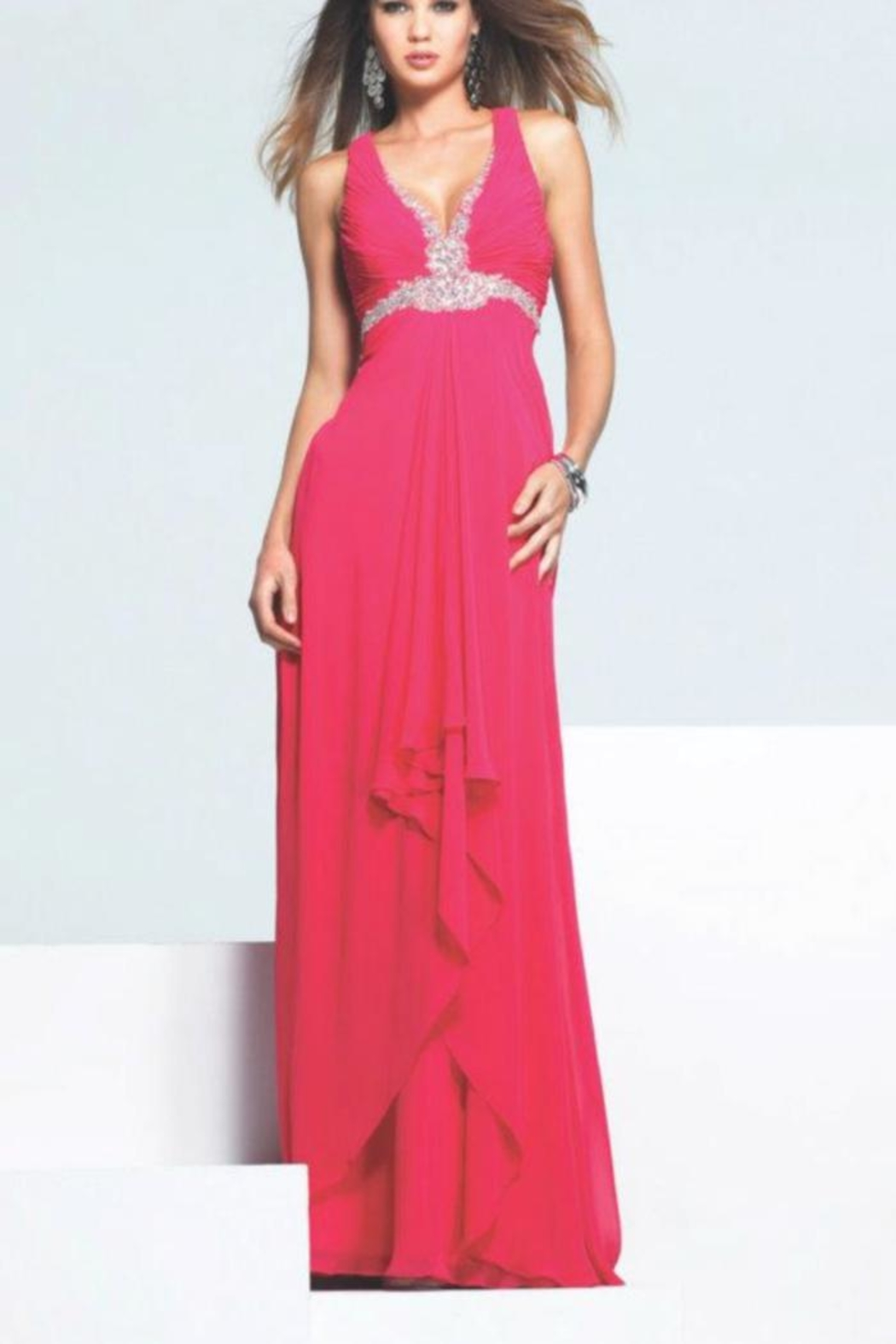 Faviana Hot-Pink Gown - Main Image
