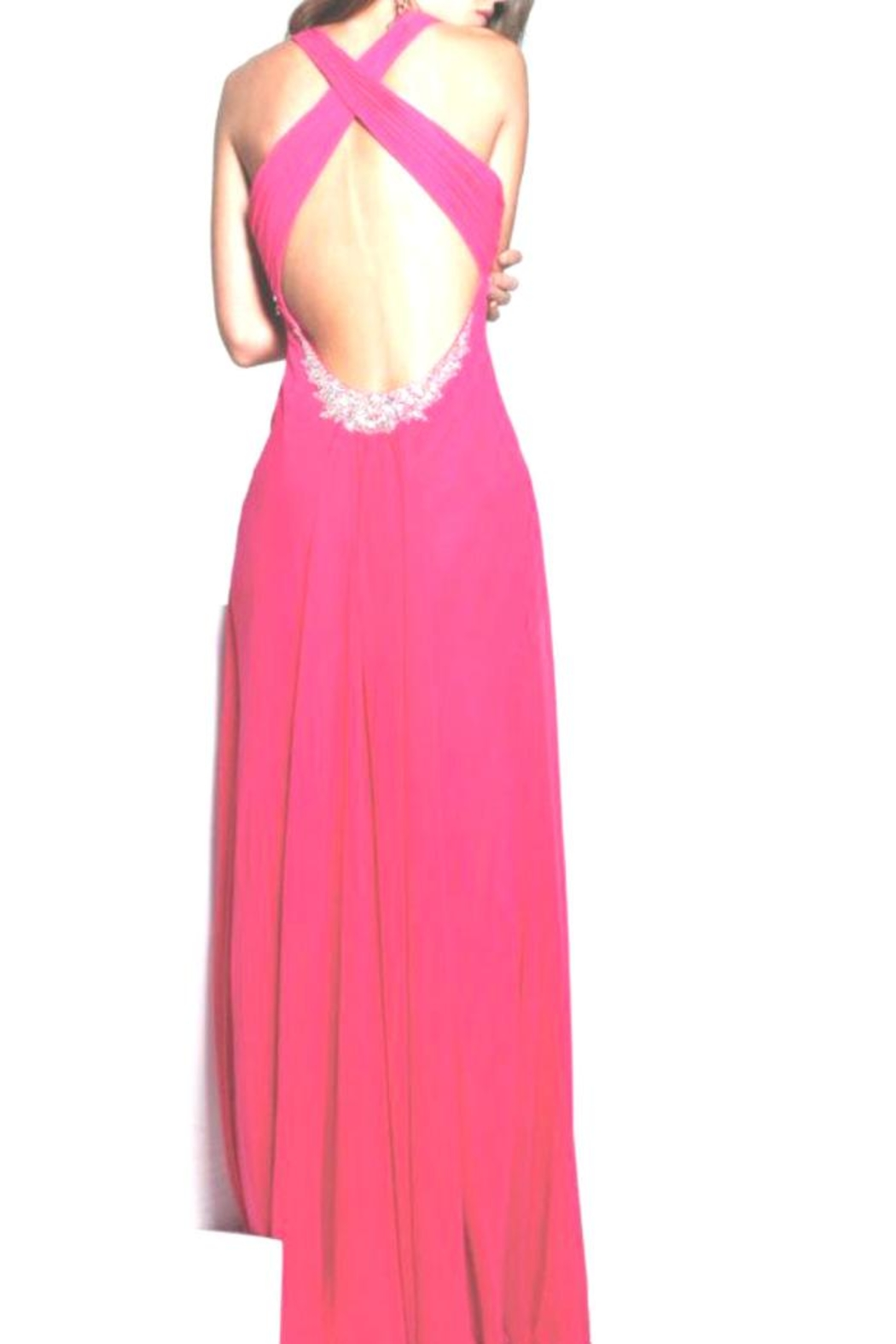 Faviana Hot-Pink Gown - Front Full Image