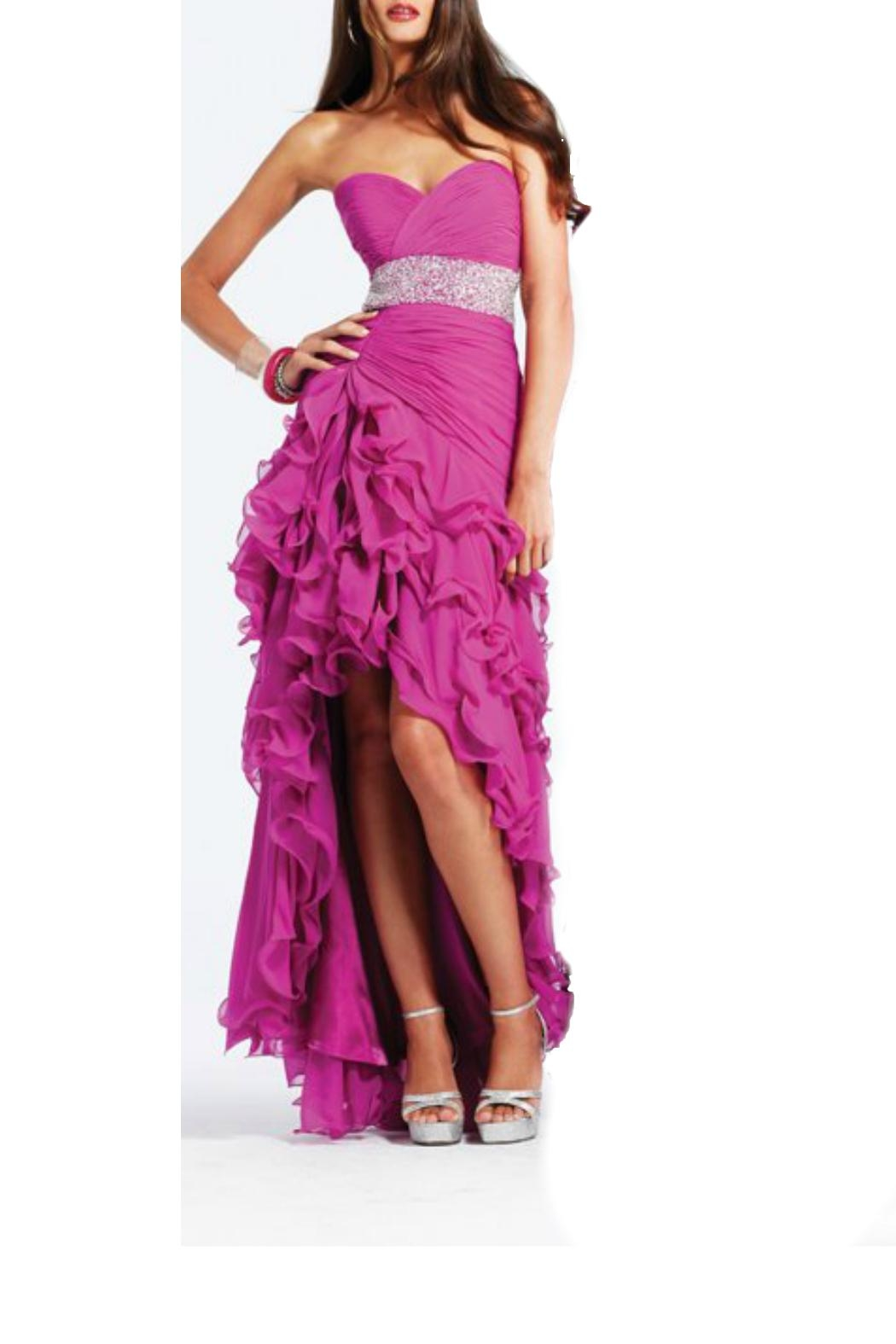 Faviana Embellished Gown - Front Full Image