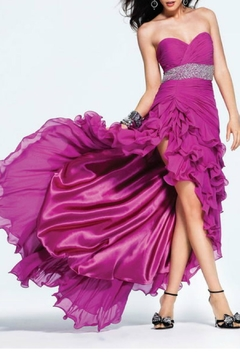 Faviana Maxi Ruffled Gown - Product List Image