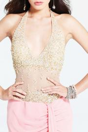 Faviana Couture Illusion Beaded Gown - Back cropped