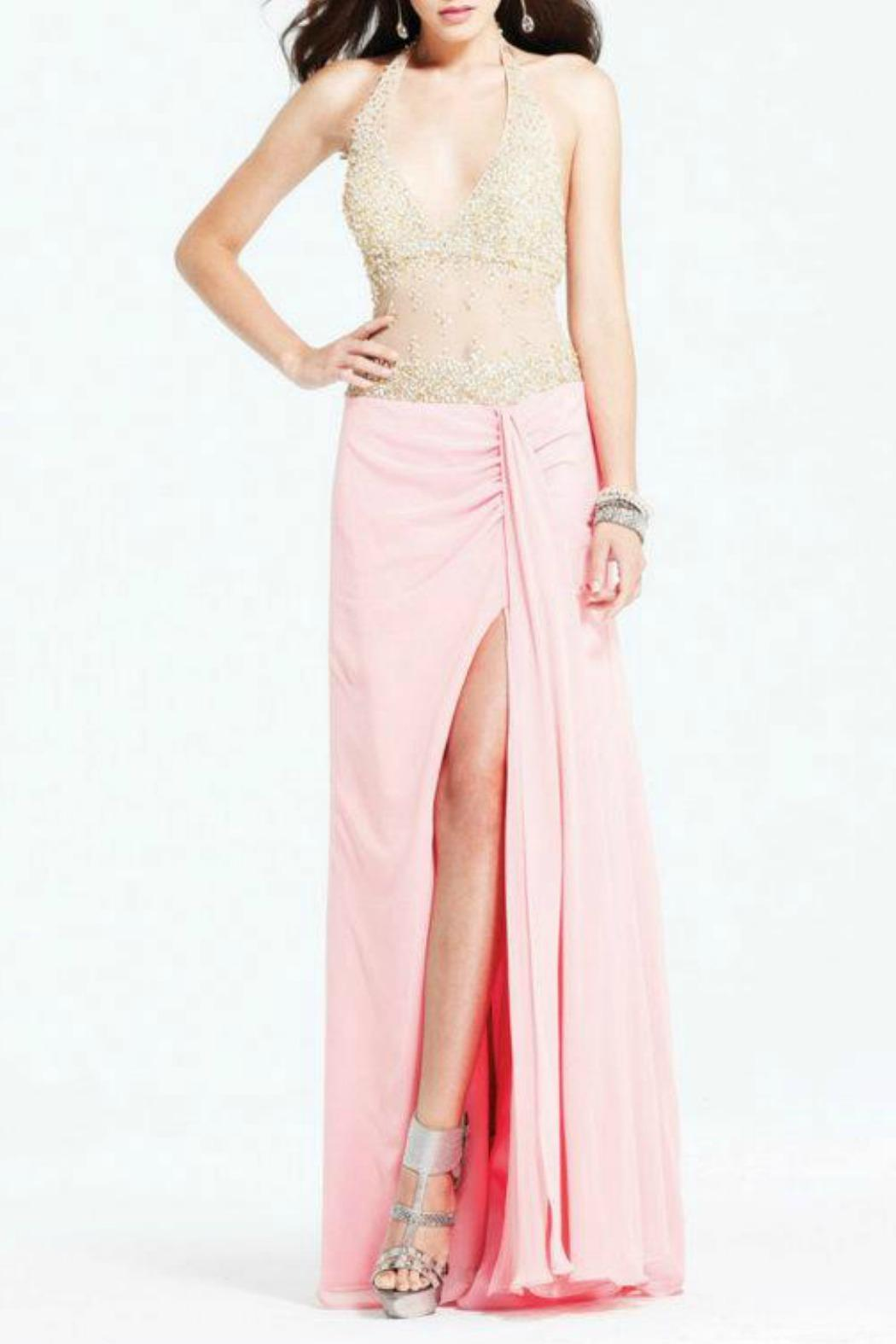 Faviana Couture Illusion Beaded Gown - Front Cropped Image